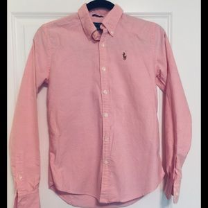 Slim fit peachy pink RL button down